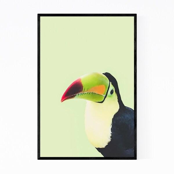 Noir Gallery Toucan Bird Animal Portrait Framed Art Print