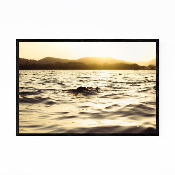 Noir Gallery Lake Water Ripples Nature Framed Art Print