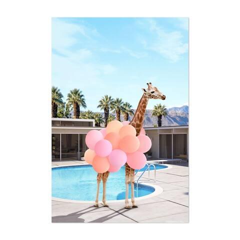 Noir Gallery Palm Springs Coastal Giraffe Humor Unframed Art Print/Poster