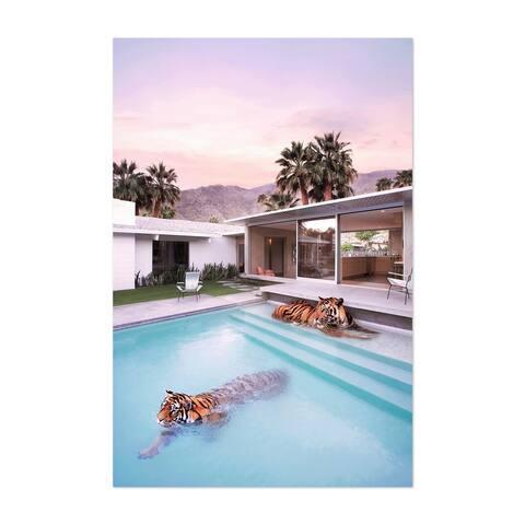 Noir Gallery Tiger Modern Architecture Humor Palm Unframed Art Print/Poster