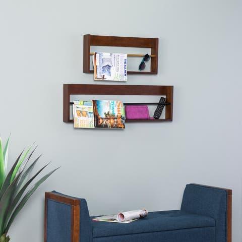 SEI Furniture Achaz Floating Wall Shelf - 2pc Set