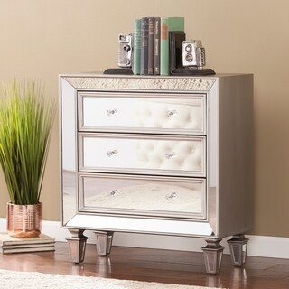 Silver Orchid Wexter Glam Slver Mirror Accent Chest
