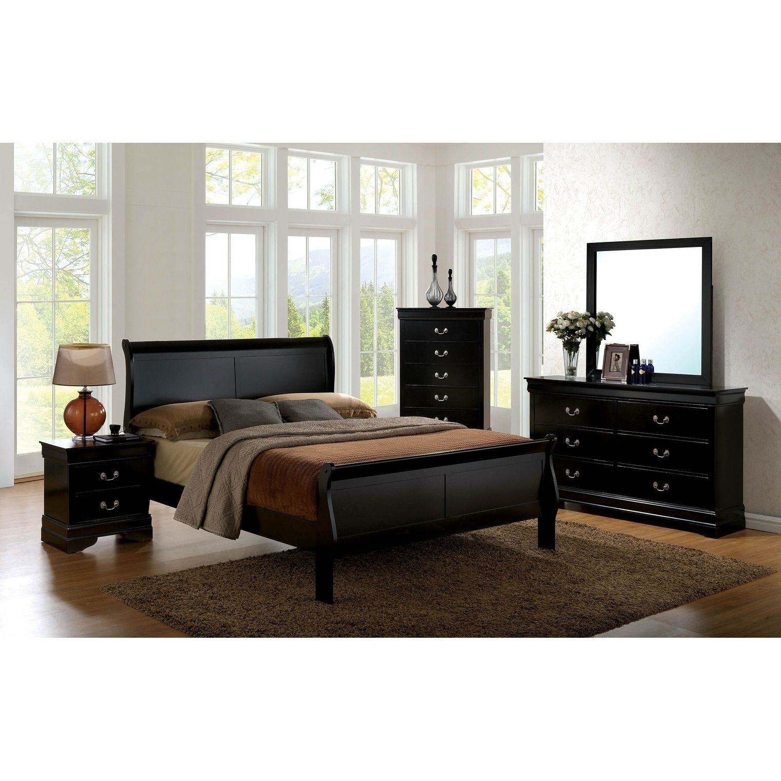 Williams Home Furnishing Louis Philippe Iii Cal King Bed In Black On Sale Overstock 28913103