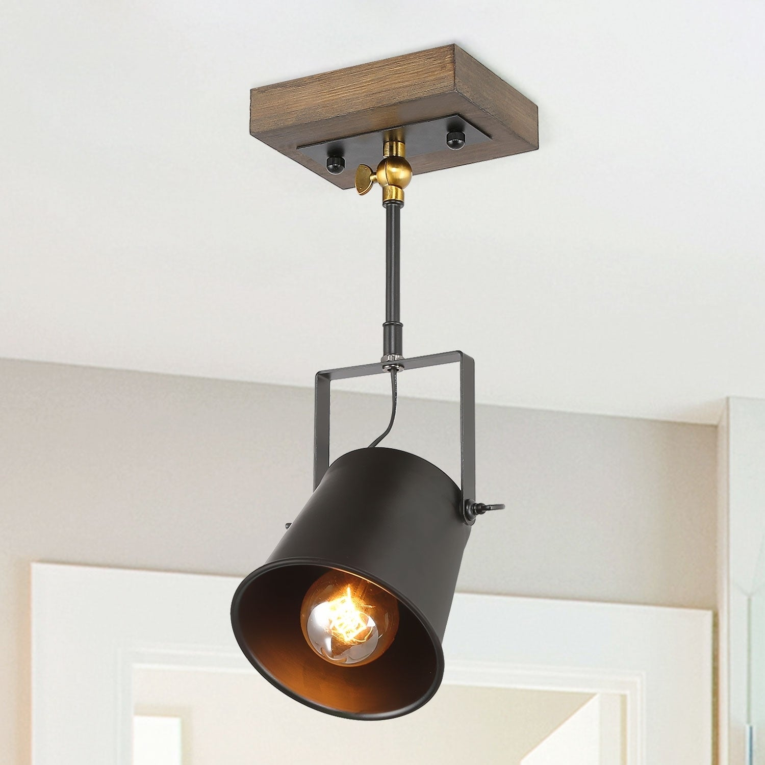 The Gray Barn Hickory Place Wood Ceiling Track Lighting Spotlights 1 Light Lights