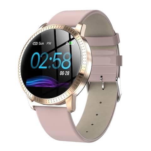 Fitness Tracker Smart Wristband Bluetooth Smart Watch Waterproof Heart Rate Blood Pressure Monitor 1.22-inch Large Screen
