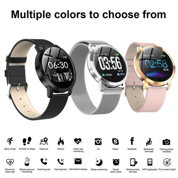 Fitness Tracker Smart Wristband Bluetooth Smart Watch Waterproof Heart Rate Blood Pressure Monitor 1.22-inch Large Screen. Opens flyout.