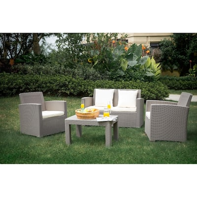 Plastic 4 Outdoor Sofas Chairs