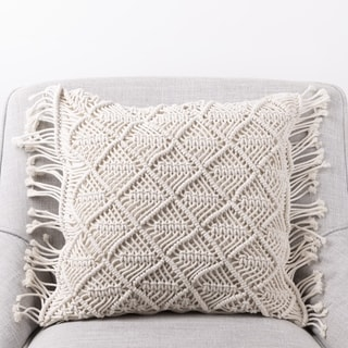The Curated Nomad Division Handmade Cotton Rope Pillow Cover
