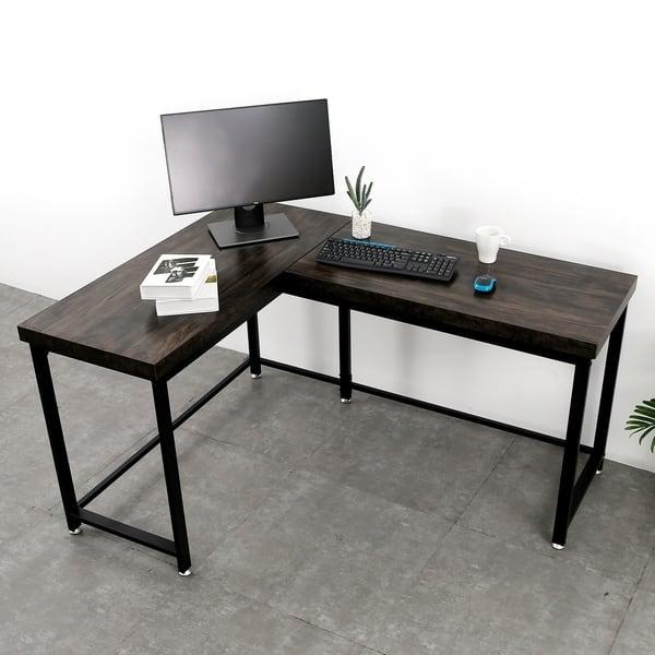 Shop Modern Gaming Desk Corner Desk L Shaped Desk for Home ...