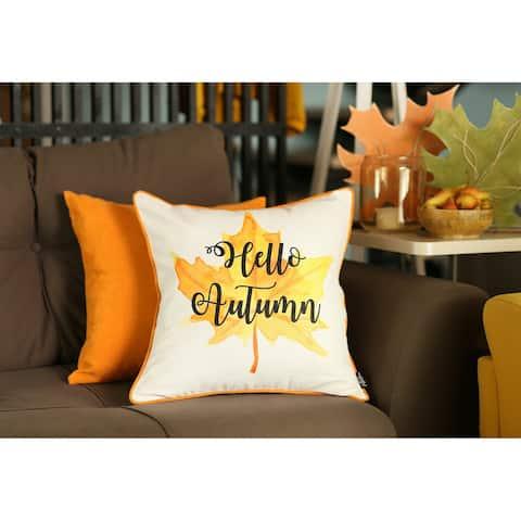 Fall Season Thanksgiving Throw Pillow Cover 18''x 18'' (2 pcs in set)