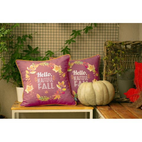 "Fall Season Thanksgiving Throw Pillow Cover 18''x 18"" (2 pcs in set)"