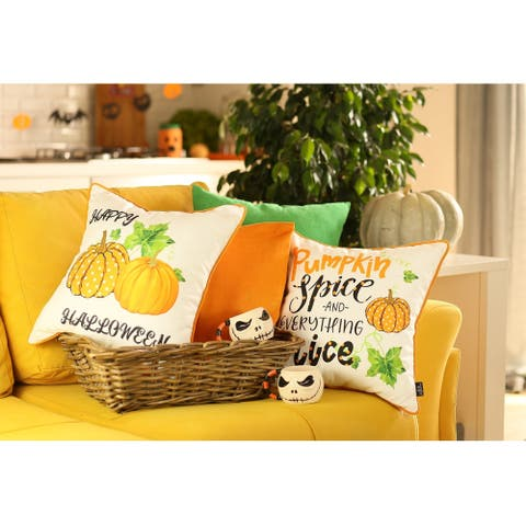"Fall Season Pumpkin Spice Harvest Pillowcase 18""x18"" (4 pcs in set)"