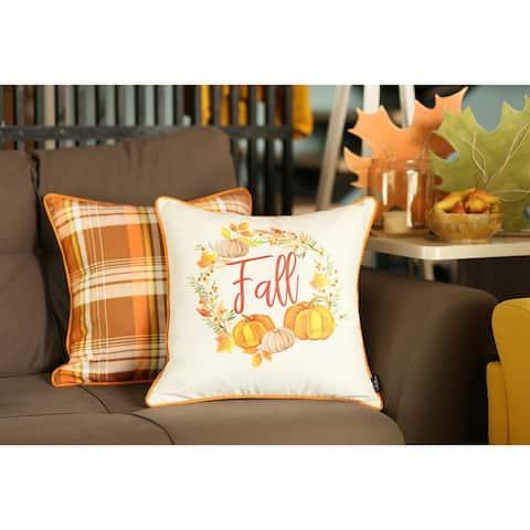 "Fall Season Thanksgiving Throw Pillow Cover 18""x18"" (2 pcs in set)"