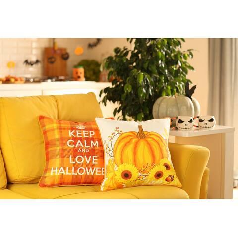 "Fall Season Harvest Pumpkin Love Pillowcase 18""x18"" (2 pcs in set)"