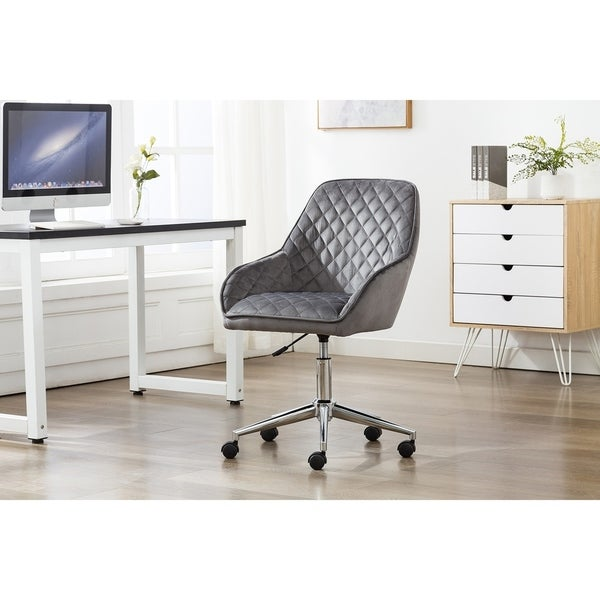 Porthos Home Vinita Adjustable Swivel Office Chair, Velvet Upholstery