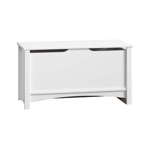 Relaxed Traditional Storage Chest-Matte White