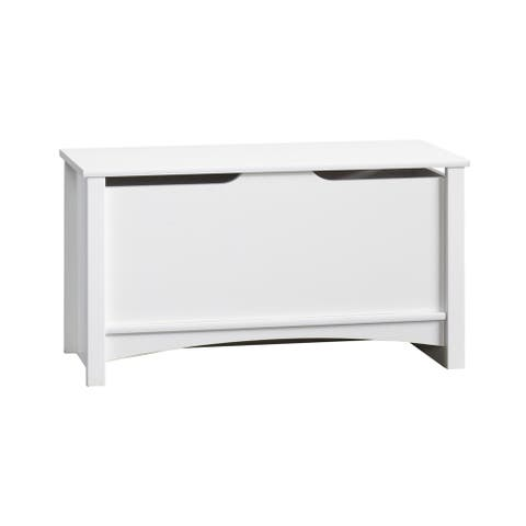 Relaxed Traditional Storage Toy Chest-Matte White
