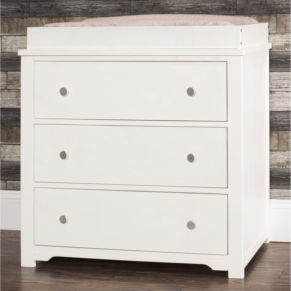 Brushed Cotton Forever Eclectic Harmony 3-Drawer Dresser with Changing Table Topper