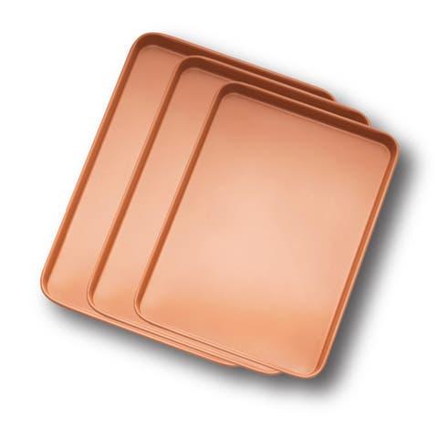 Gotham Steel 3PK Non-stick Copper Cookie Baking Sheet Set