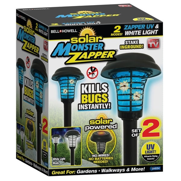 Bell + Howell Solar Monster Zapper Outdoor Pest Control. Opens flyout.
