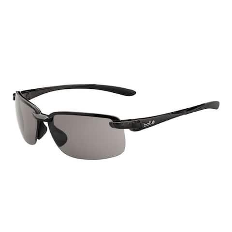 Bolle Flyair 64mm Wrap-Around TNS Sport Sunglasses (Shiny Black) - Medium