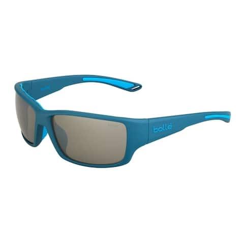 Bolle Kayman 62mm HD Polarized TNS Sport Sunglasses (Matte Blue) - Medium