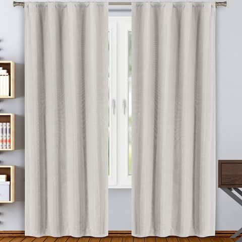 Beya Room Darkening Pole Top Window Curtain Panel Pair Set of Two