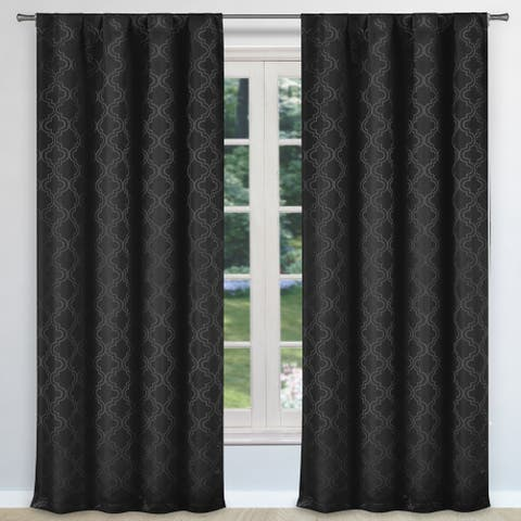 Bryn Pole Top Window Curtain Panel Pair Set of Two - 37X96""