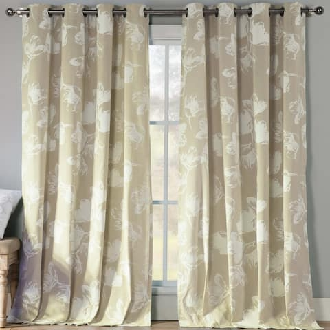 """Aster Grommet Window Curtain Panel Pair Set of Two - 54X84"""""""