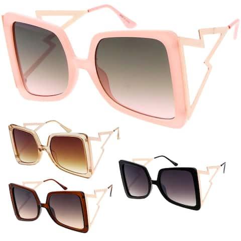 MLC Eyewear Large Wired Frame Geometric Frame Fashion Sunglasses