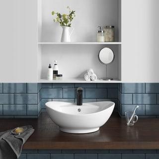 "Ivy 23"" Oval Ceramic Vessel Sink"