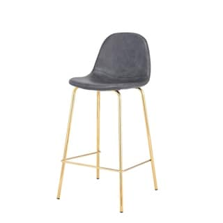 Link to Carbon Loft Spooner Handmade Distressed Grey Counter Stool Similar Items in Dining Room & Bar Furniture