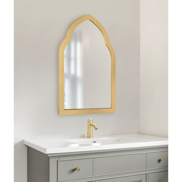 Kate and Laurel Eileen Framed Arch Mirror - Gold - 20x30