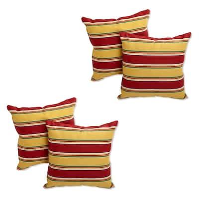 Blazing Needles 17-inch Indoor/ Outdoor Throw Pillows (Set of 4)