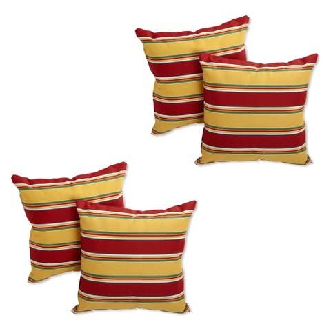 Blazing Needles 17-inch Indoor/Outdoor Throw Pillow (Set of 4)