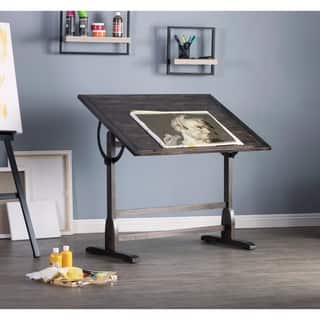 """Studio Designs Vintage Solid Wood Drawing/Drafting Table with 42"""" x 30"""" Adjustable Tilting Top"""