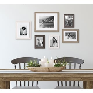 Kate and Laurel Bordeaux 6 Piece Gallery Wall Frame Set