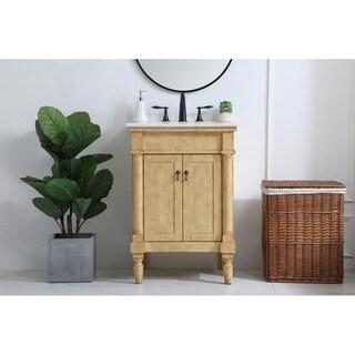 24 inch Single Bathroom Vanity in Antique Beige