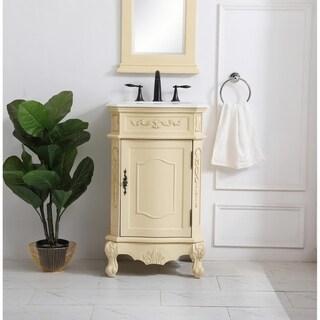 21 inch Single Bathroom Vanity in Light Antique Beige