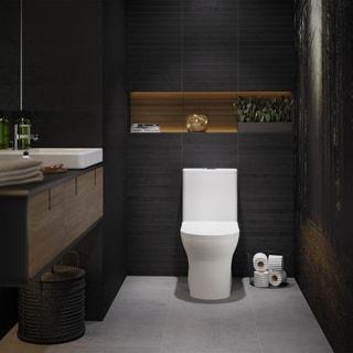 Shop Fresca Serena 1 Piece Dual Flush Toilet With Soft