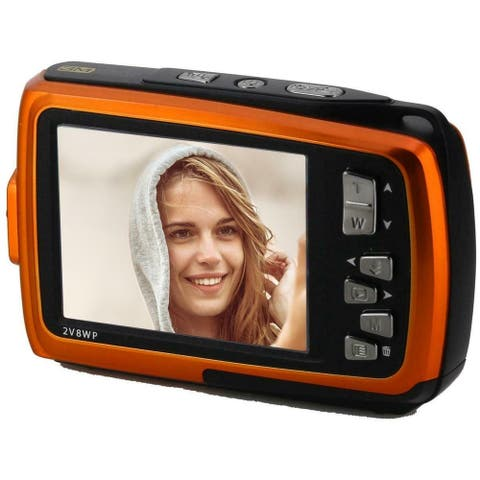 Coleman Duo2 Dual Screen Shock Waterproof Digital Camera, Orange 2V8WP-O