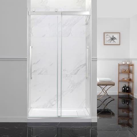 OVE Decors Montebello 48 in. Chrome Frameless Sliding Shower Door