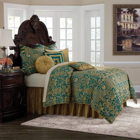 Aristocrat 10-Piece Turquoise King Comforter Set