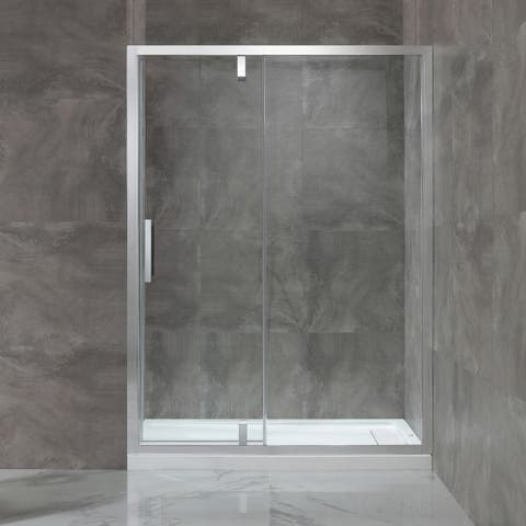 OVE Decors Estero 60 in. Chrome Framed Pivot Shower Door