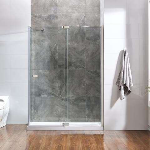 OVE Decors Harbor 60x32 in. SN Frameless Hinges Shower Door w/ SP