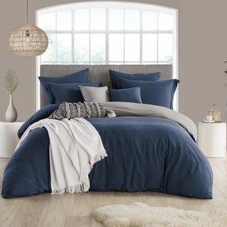 Link to Porch & Den Crane Extra Soft Reversible Crinkle Duvet Cover Set Similar Items in Duvet Covers & Sets