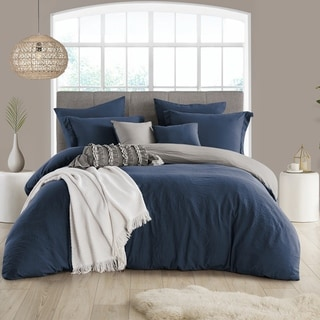 Porch & Den Crane Extra Soft Reversible Crinkle Duvet Cover Set