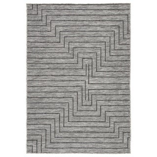 Nikki Chu Xantho Indoor/ Outdoor Geometric Gray Area Rug