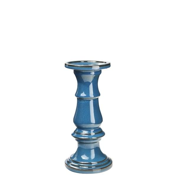 UTC11468 1pc Small Ceramic Pillar Candle Holder - N/A
