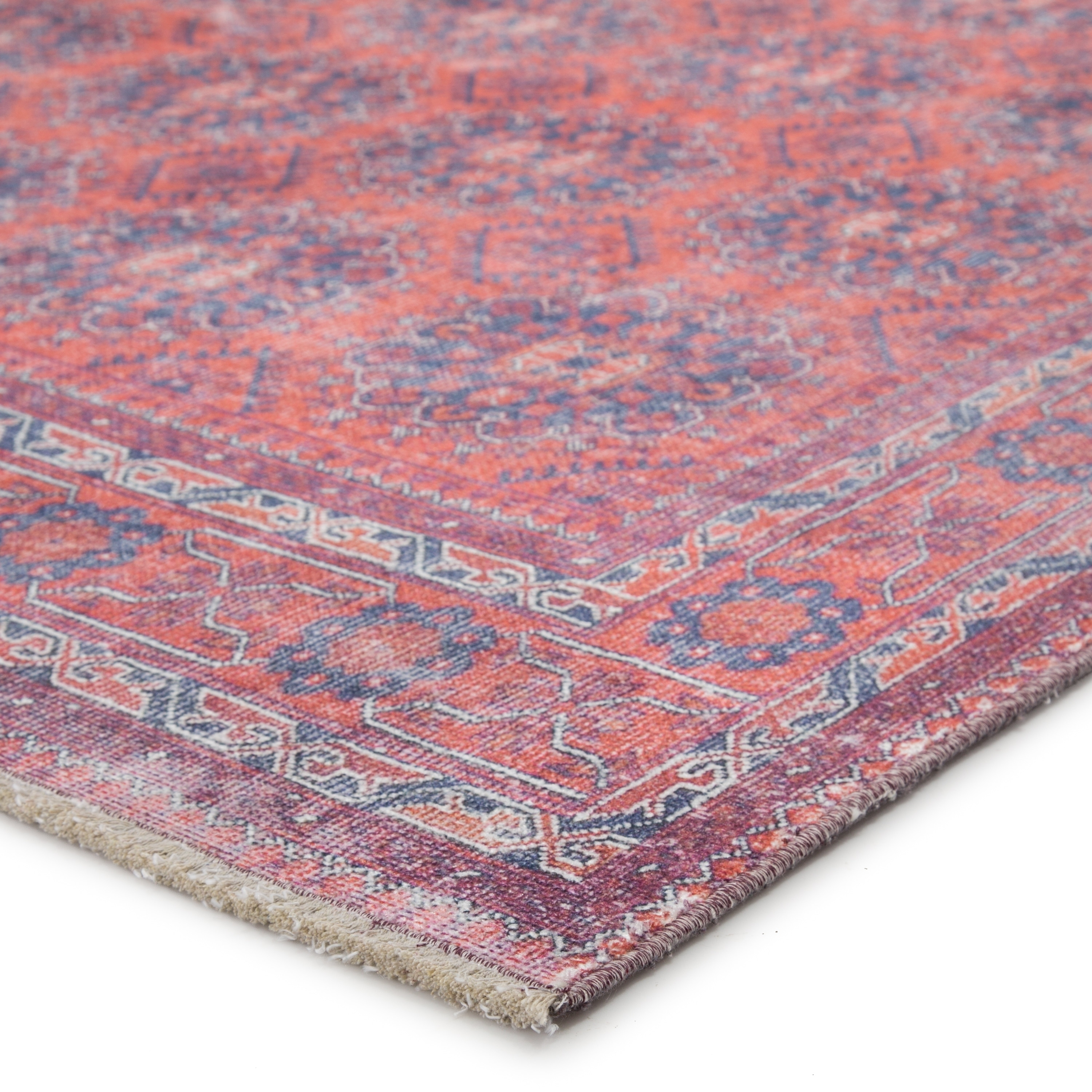 The Curated Nomad Pelton Oriental Blue Red Area Rug On Sale Overstock 28945082